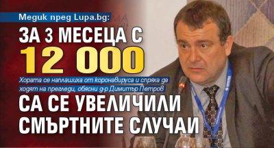 Медик пред Lupa.bg: За 3 месеца с 12 000 са се увеличили смъртните случаи