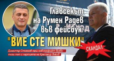 """Скандал: Главсекът на Румен Радев във фейсбук: """"Вие сте мишки"""""""