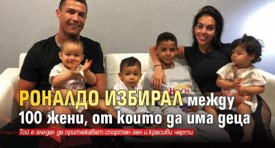 Роналдо избирал между 100 жени, от които да има деца