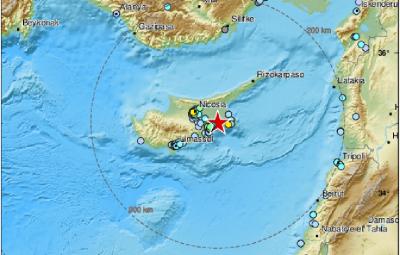 Силно земетресение разклати Кипър