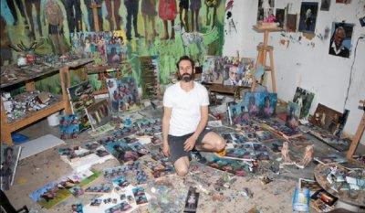 БАЛКАНСКИ ПОТОК 2: Израелец нарисува 120 портрета на Тръмп (ГАЛЕРИЯ)