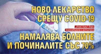 Ново лекарство срещу COVID-19  намалява болните и починалите със 70%