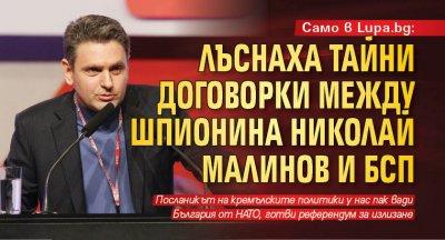 Само в Lupa.bg: Лъснаха тайни договорки между шпионина Николай Малинов и БСП