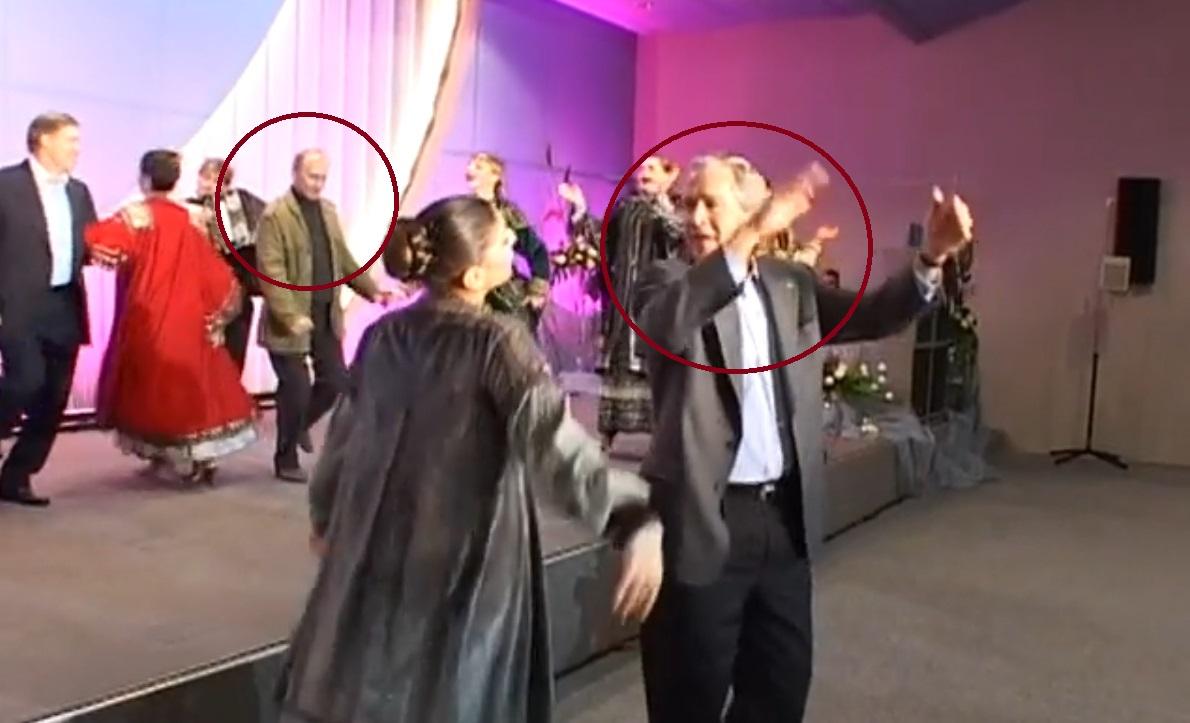 Браво! Путин танцува с Буш-младши (ВИДЕО)